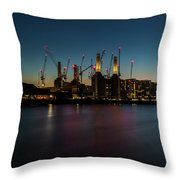 Battersea Power Station On The Thames, London Throw Pillow