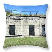 Battery Ferdinand Claiborne Throw Pillow