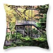 Battery Park Fall Colors  Throw Pillow