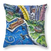Battery Park Throw Pillow
