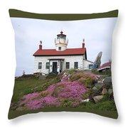 Battery Point Lighthouse Throw Pillow