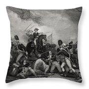 Battle At Princeton New Jersey Usa 1775 Throw Pillow