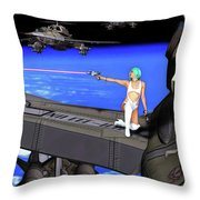 Battle Beyond The Atmosphere  Throw Pillow