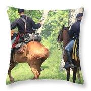 Battle By Horseback Throw Pillow