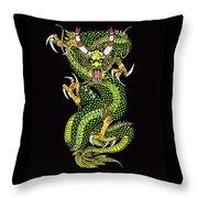 Battle Dragon Throw Pillow
