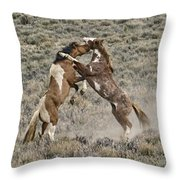 Battle For Dominance Throw Pillow