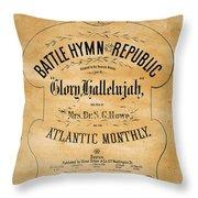 Battle Hymn Of The Republic Throw Pillow