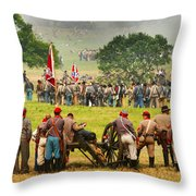 Battle Lines Forming Throw Pillow
