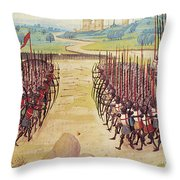 Battle Of Agincourt, 1415 Throw Pillow by Granger