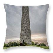 Battle Of Bennington Monument Throw Pillow