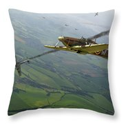 Battle Of Britain Dogfight Throw Pillow