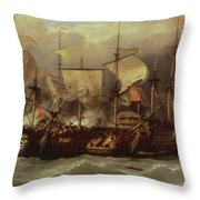 Battle Of Cape St Vincent Throw Pillow