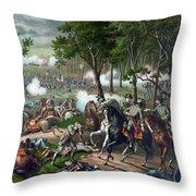 Battle Of Chancellorsville - Death Of Stonewall Throw Pillow
