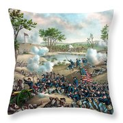 Battle Of Cold Harbor Throw Pillow