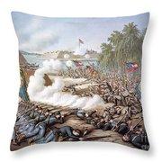 Battle Of Corinth, 1862 Throw Pillow