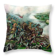 Battle Of Five Forks Throw Pillow