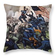 Battle Of Fort Wagner, 1863 Throw Pillow