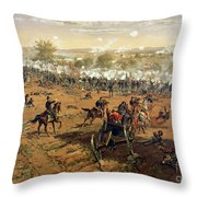 Battle Of Gettysburg Throw Pillow by Thure de Thulstrup