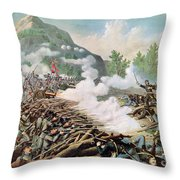 Battle Of Kenesaw Mountain Georgia 27th June 1864 Throw Pillow by American School