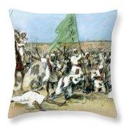 Battle Of Omdurman 1898 Throw Pillow