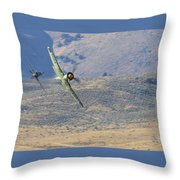 Battle Of The Hawker Sea Furys Throw Pillow