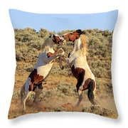 Battle Of The Paints Throw Pillow