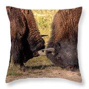 Battle Practise Throw Pillow