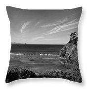 Battle Rock Beach Oregon Throw Pillow