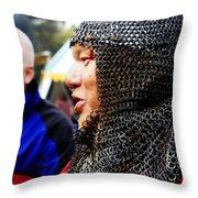 Battle Scared Throw Pillow