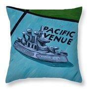 Battle Ship Throw Pillow