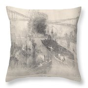 Battleship Coming Home Throw Pillow
