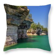 Battleship Row Throw Pillow