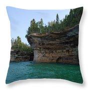 Battleship Row Rocks Throw Pillow