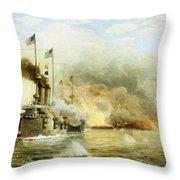 Battleships At War Throw Pillow