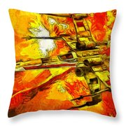 Star Wars X-wing Fighter - Oil Throw Pillow
