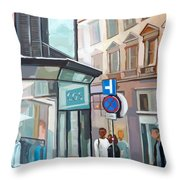Bauernmarkt 2a Wien Throw Pillow
