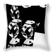 Bauhaus Ballet 2 The Cubist Harlequin Throw Pillow