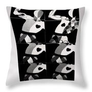 Bauhaus Ballet Six Throw Pillow
