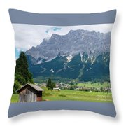 Bavarian Alps Landscape Throw Pillow