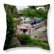 Bavarian Belle Rocks Throw Pillow