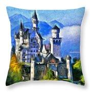 Bavaria's Neuschwanstein Castle Throw Pillow