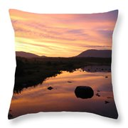 Baxter State Park At Sunset Throw Pillow
