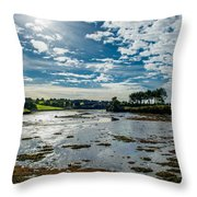 Bay At Low Tide In Clonakilty In Ireland Throw Pillow