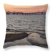 Bay At Sunset Throw Pillow