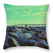 Bay Bridge Throw Pillow