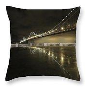 Bay Bridge San Fransico Throw Pillow
