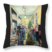Bay City Post Office Throw Pillow