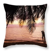 Bay Islands At Sunset Throw Pillow