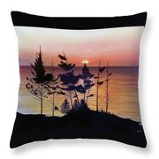 Bay Of Fundy Sunset Throw Pillow