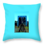 Bay Of Fundy Train Trestle Throw Pillow